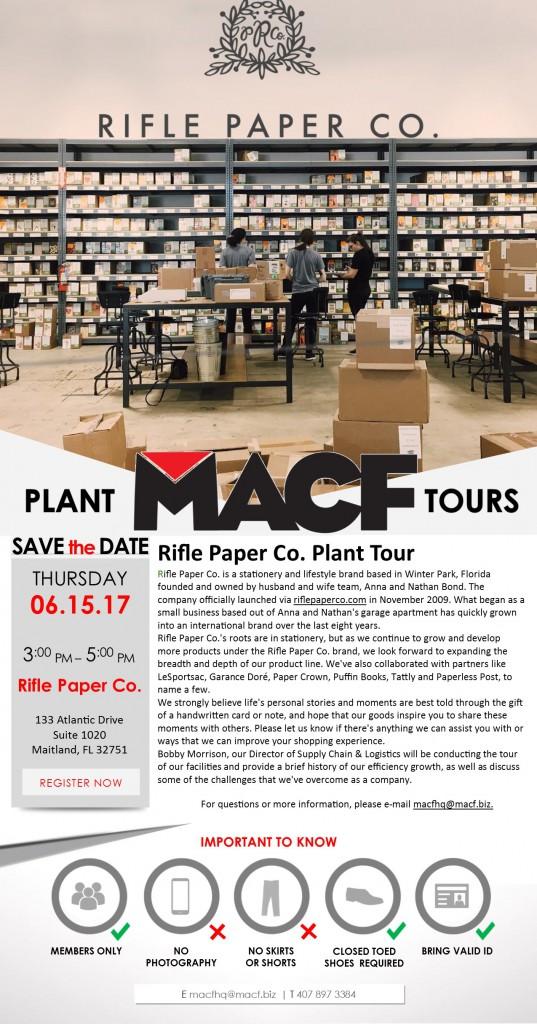 Rifle Paper Co. Plant Tour Invite - June 2017
